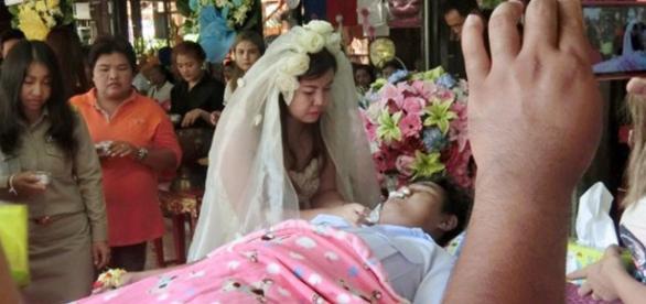 O casamento ocorreu mesmo com o noivo morto