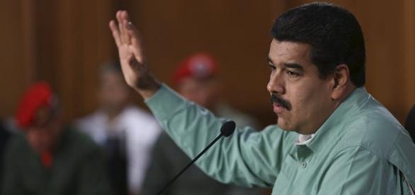 Nicolás Maduro en un meeting en Venezuela