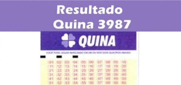 Resultado do jogo da Quina 3987