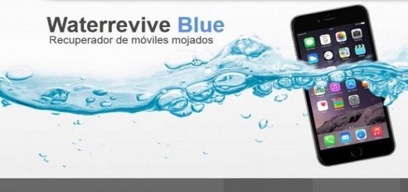 Waterrevive Blue es la solución a tu móvil mojado.