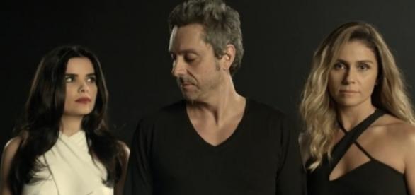 O trio da novela da Globo 'A Regra do Jogo'