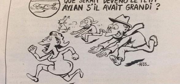 Charge mostra menino Aylan morto em praia