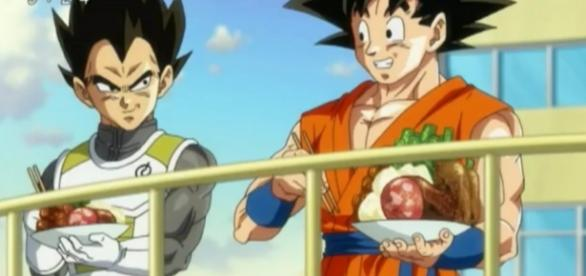 Goku y Vegeta al final del capitulo