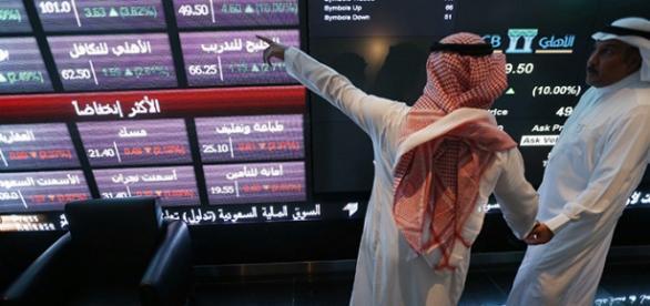 La bolsa de valores de Arabia Saudita colapsando
