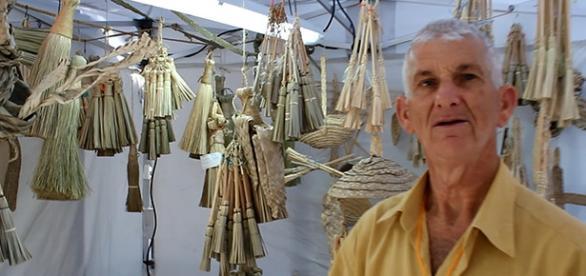 La cestería es un arte tradicional.