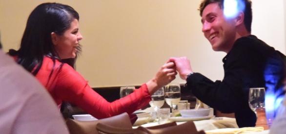 Selena e Samuel em jantar em novembro