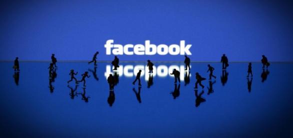 Logotipo de la red social facebook.