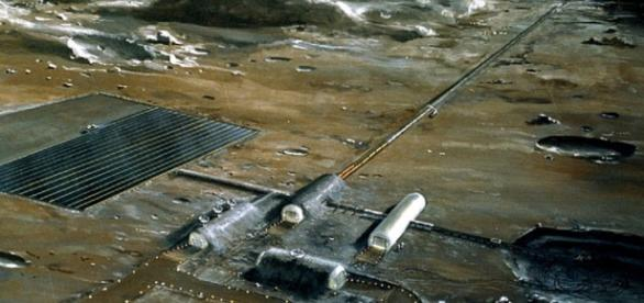 NASA concept of a future lunar base