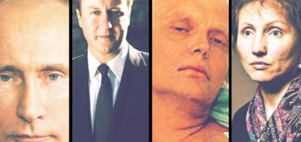 Putin, Cameron, Litvinenko e la moglie Marina