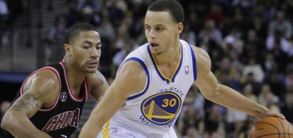 Stephen Curry vs Derrick Rose.