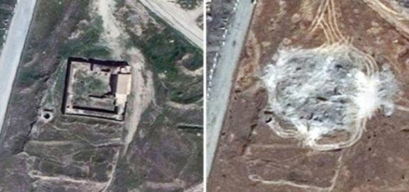 Imagini satelit, mănăstirea distrusă Sf. Ilie