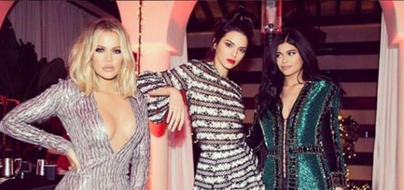 Khloe Kardashian mit Kendall und Kylie Jenner