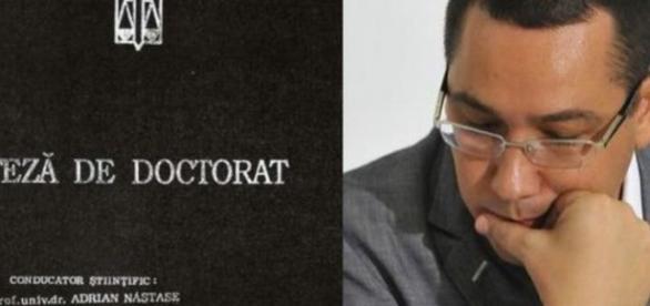 Ponta își pierde titlul de doctor