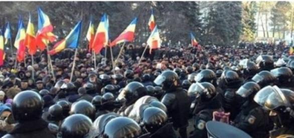 Proteste la Chişinău foto Timpul.md