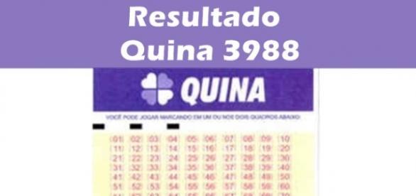 Resultado do jogo da Quina 3988