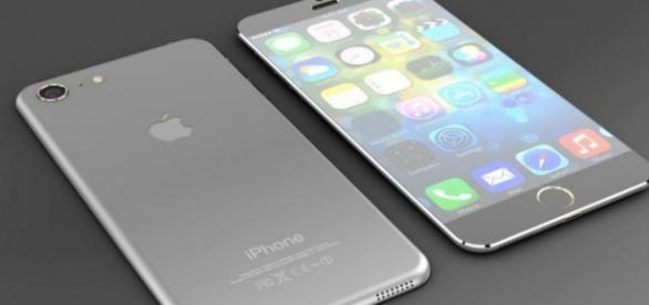 Concepto de un usuario del iPhone 7