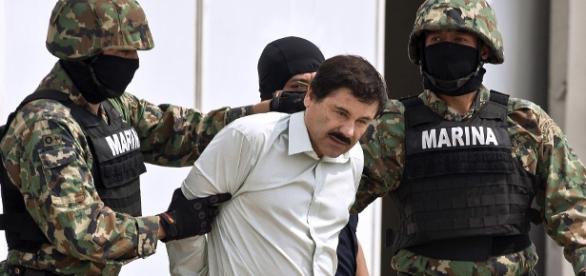 El Chapo' Guzmán a manos de la Marina.