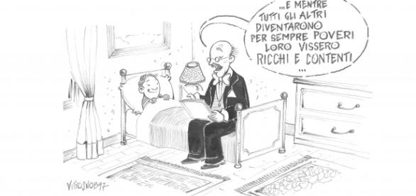 """""""I ricchi e i poveri"""" in un disegno di Vito Zocco"""