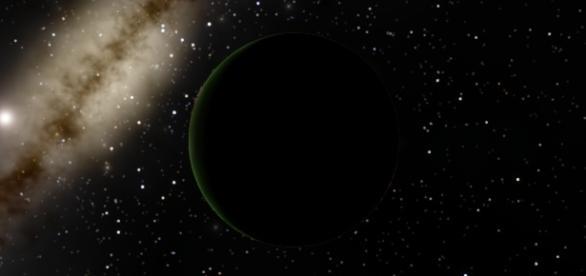 El Planeta Nueve y el Sol simulados en SpaceEngine