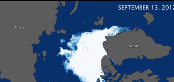 Demostración del deshielo polar