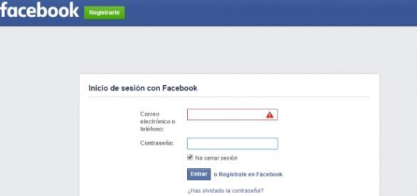Ejemplo de Inicio de sesión de Facebook