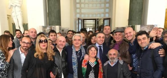 Foto al termine dell'incontro con Michele Placido