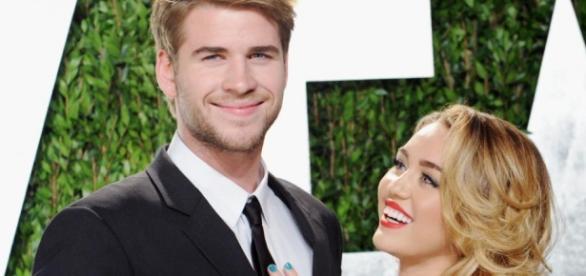 Liam Hemsworth e Miley Cyrus. Foto: divulgação.