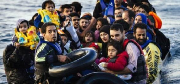 salvamento de refugiados en el mar Egeo