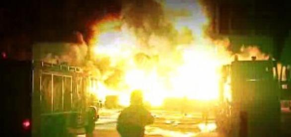 Incendiu provocat din cearta cu sotia