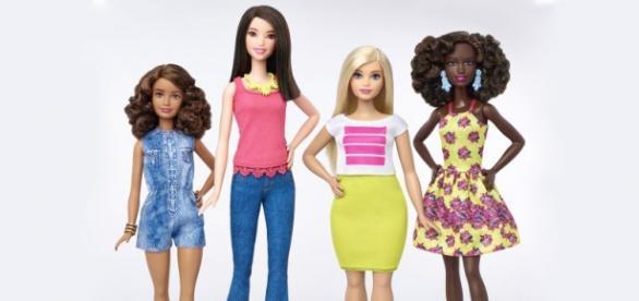 O novos modelos da boneca Barbie. (Divulgação)