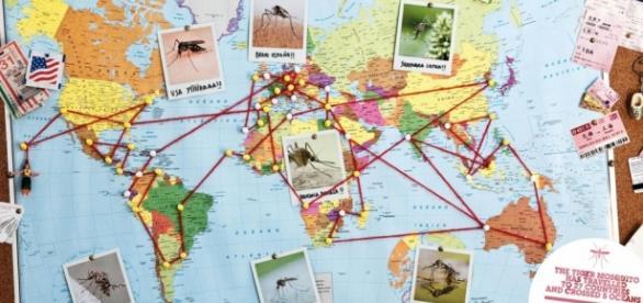 Viajar con Airbnb -mapa del mundo