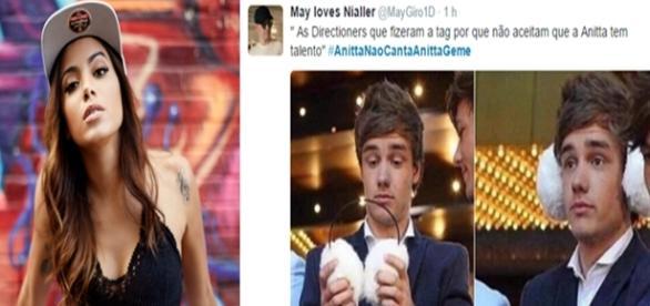 Fãs de Anitta e One Direction brigam no Twitter