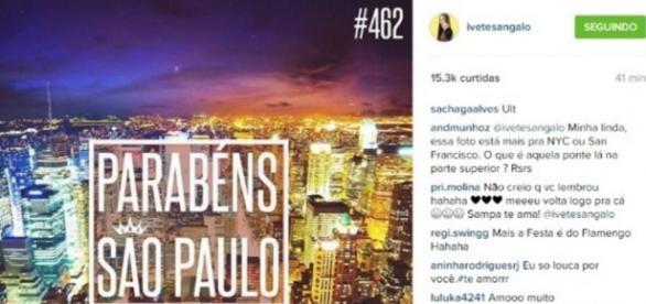 Erro de Ivete Sangalo - Foto/Instagram