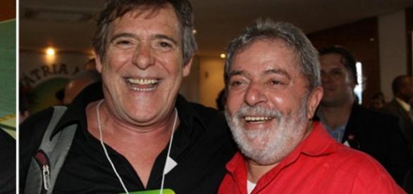 José de Abreu e Lula - Foto/Divulgação: PT