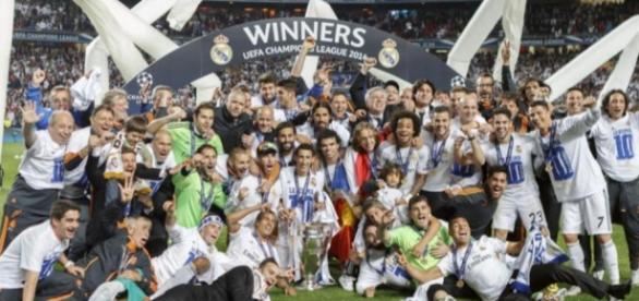El Real Madrid en la celebración de la 'Décima'