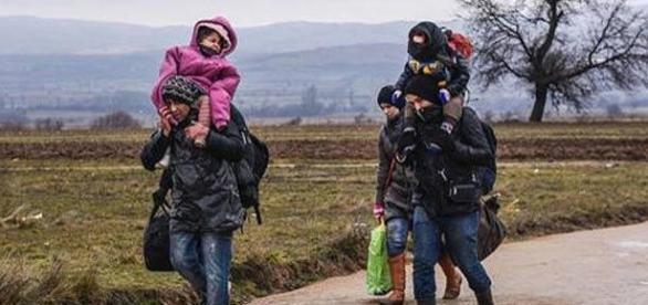 Refugiados intentando encontrar una vida mejor