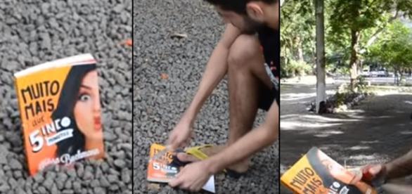 Vídeo queimando o livro da Kéfera