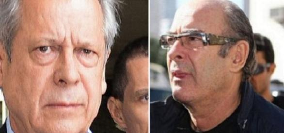 Em destaque, José Dirceu e Fernando Moura.