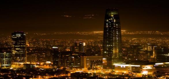 Santiago de noche - Mall Costanera Center