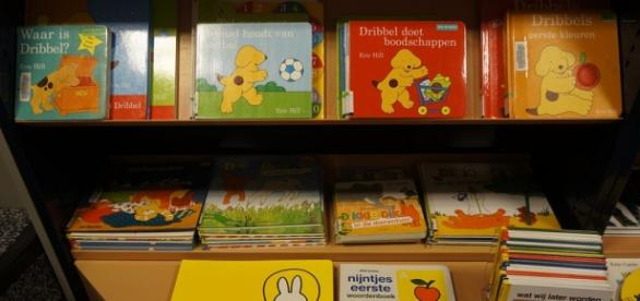 Imagem dos livros da biblioteca infantil