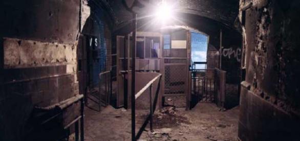 Una de las estaciones del metro abandonadas