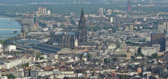 Luftaufnahme der Kölner Innenstadt