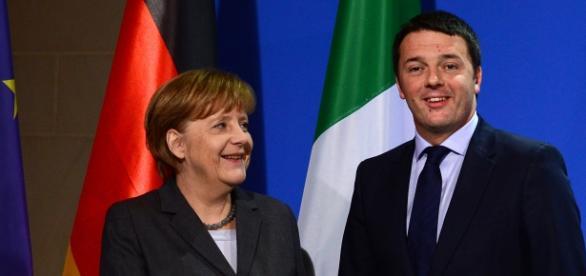 Vertice Berlino, Merkel e Renzi a colloquio