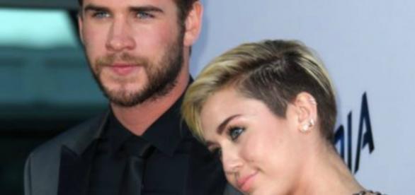 Miley Cyrus com Liam Hemsworth