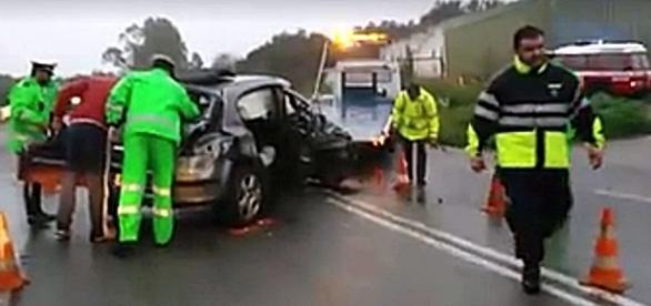 Violenta colisão ocorreu na EN4 na zona de Elvas