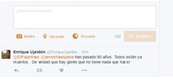 Enrique Ujaldón respondiendo a @ElPajaritoes