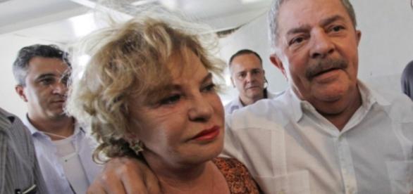 Marisa Letícia e o ex-presidente Lula