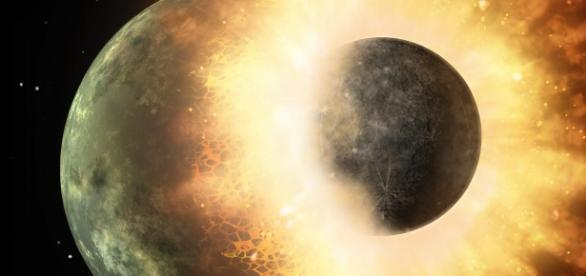 Unirea celor două planete: Pământ șiTheia