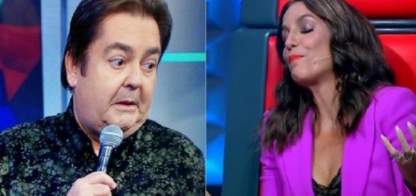 Faustão e Ivete Sangalo - Foto/Montagem