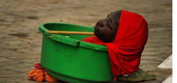 Lamentable situación de pobreza en Nigeria.